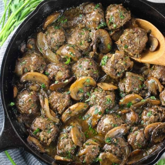 Salisbury Steak Meatballs (Low Carb & Gluten Free)
