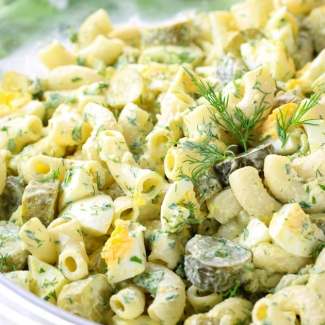 Macaroni Salad With Dill Pickles