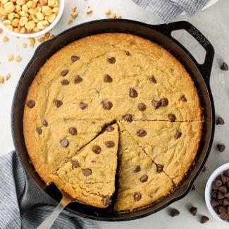 Gluten Free Peanut Butter Skillet Cookie