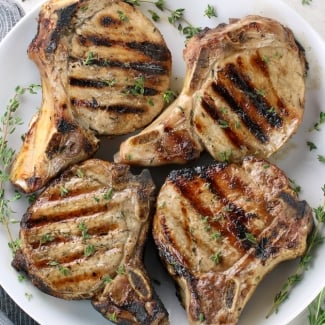 The Perfect Grilled Pork Chops (Gluten Free)