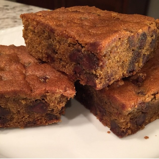 Pumpkin Chocolate Brownie Square 3