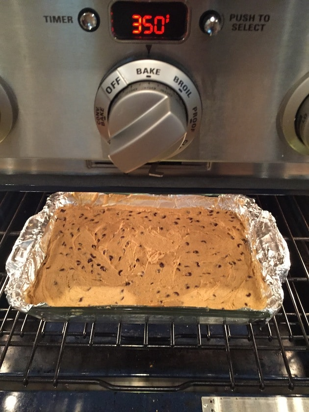 Pumpkin Chocolate Chip Squares In Oven