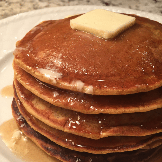 Pumpkin Pancakes Stack Side Crop