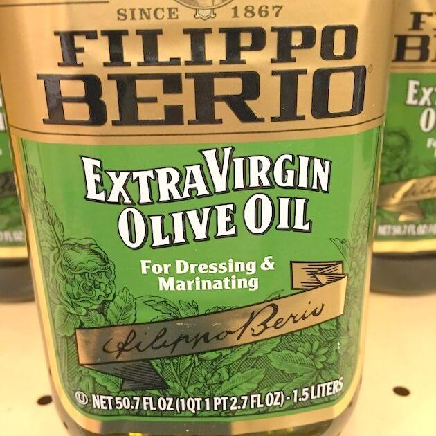 Bottle of EVOO - Extra Virgin Olive Oil