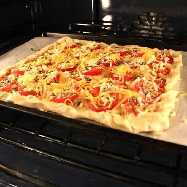 Tomato Cheddar Tart