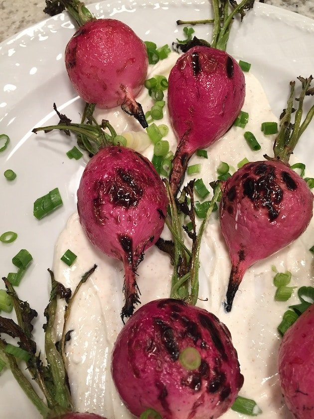 Grilled Radishes With Crema