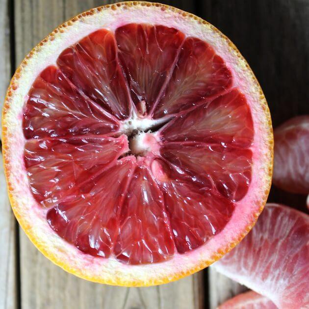 Blood Orange sliced in half