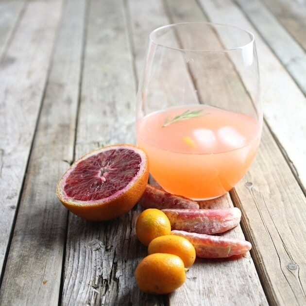 Aperol Punch with citrus garnishes