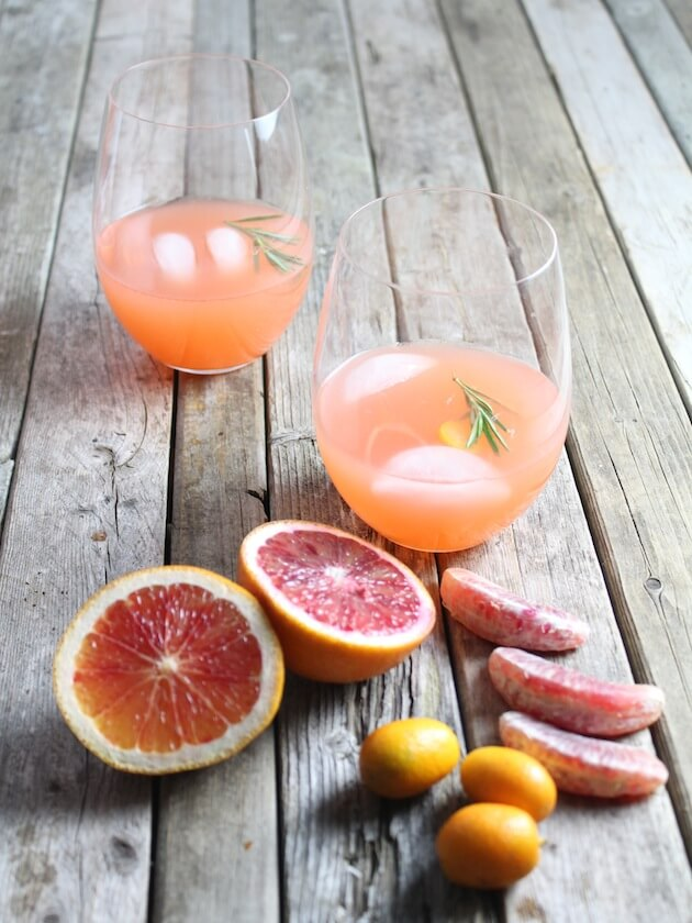 Aperol Punch with sliced citrus