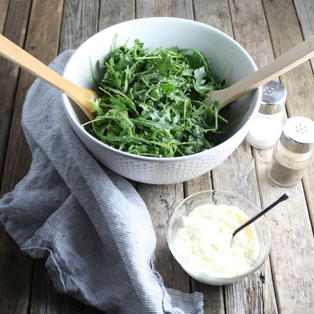 Arugula Salad with ingredients 2