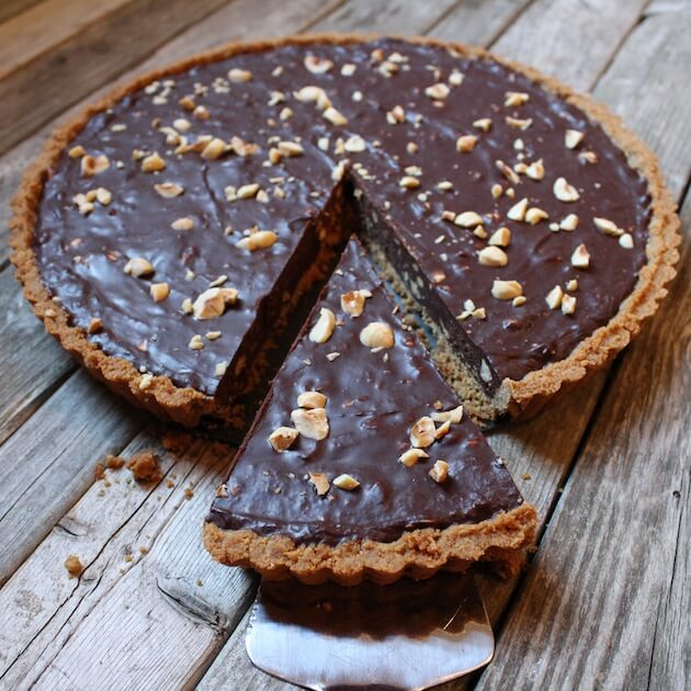 Chocolate Hazelnut Tart #SundaySupper | Taste And See