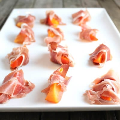 Persimmons Wrapped in Prosciutto