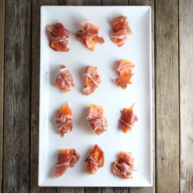 persimmon and procuitto overtop