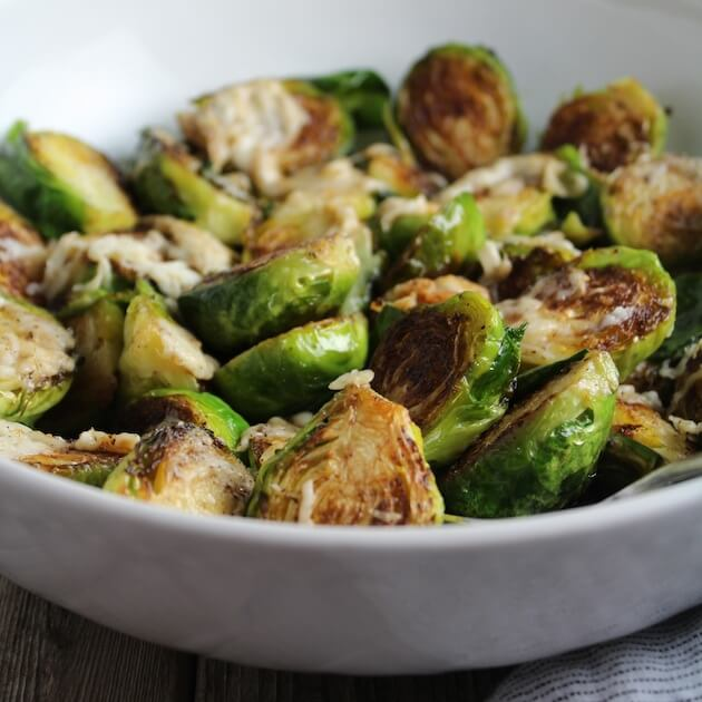 Asiago Cheese Brussels Sprouts