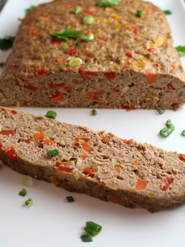 Gluten Free Meatloaf sliced on platter