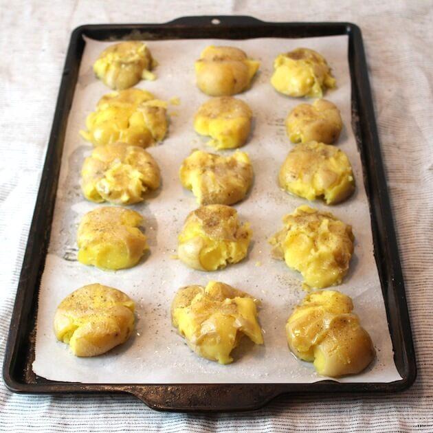 Smashed Potatoes #SundaySupper | Taste And See