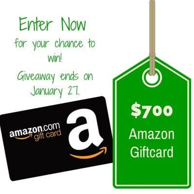 $700 Amazon Gift Card Giveaway!