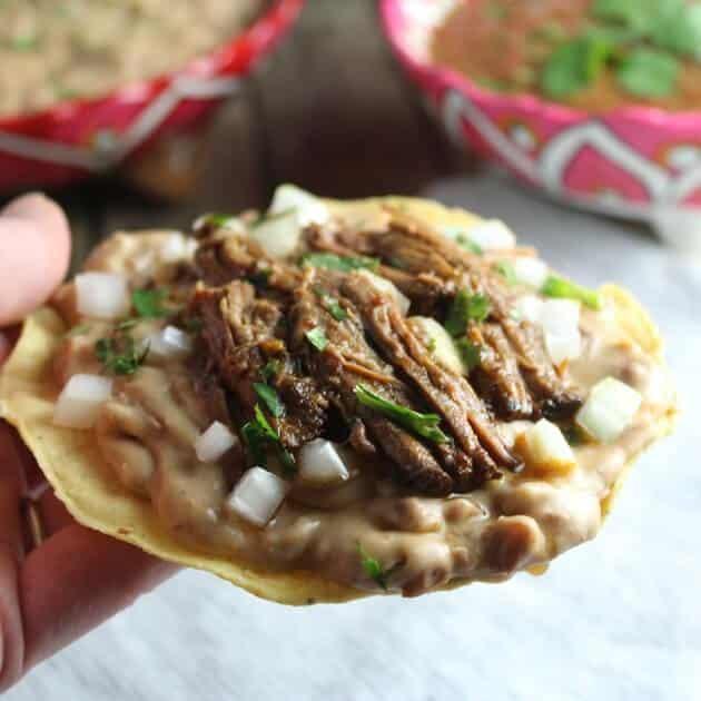 holding taco EL