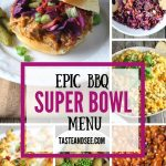 BBQ Menu for super bowl party