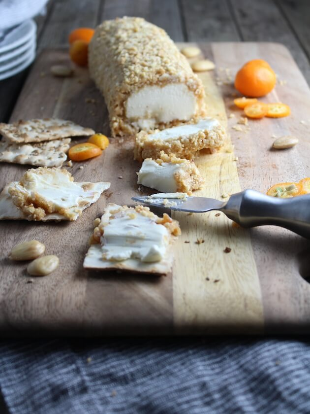 Goat Cheese with Marcona Almonds and Honey
