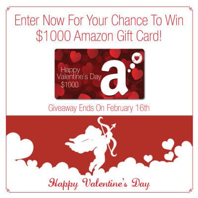 Valentine's $1000 Amazon Giveaway!