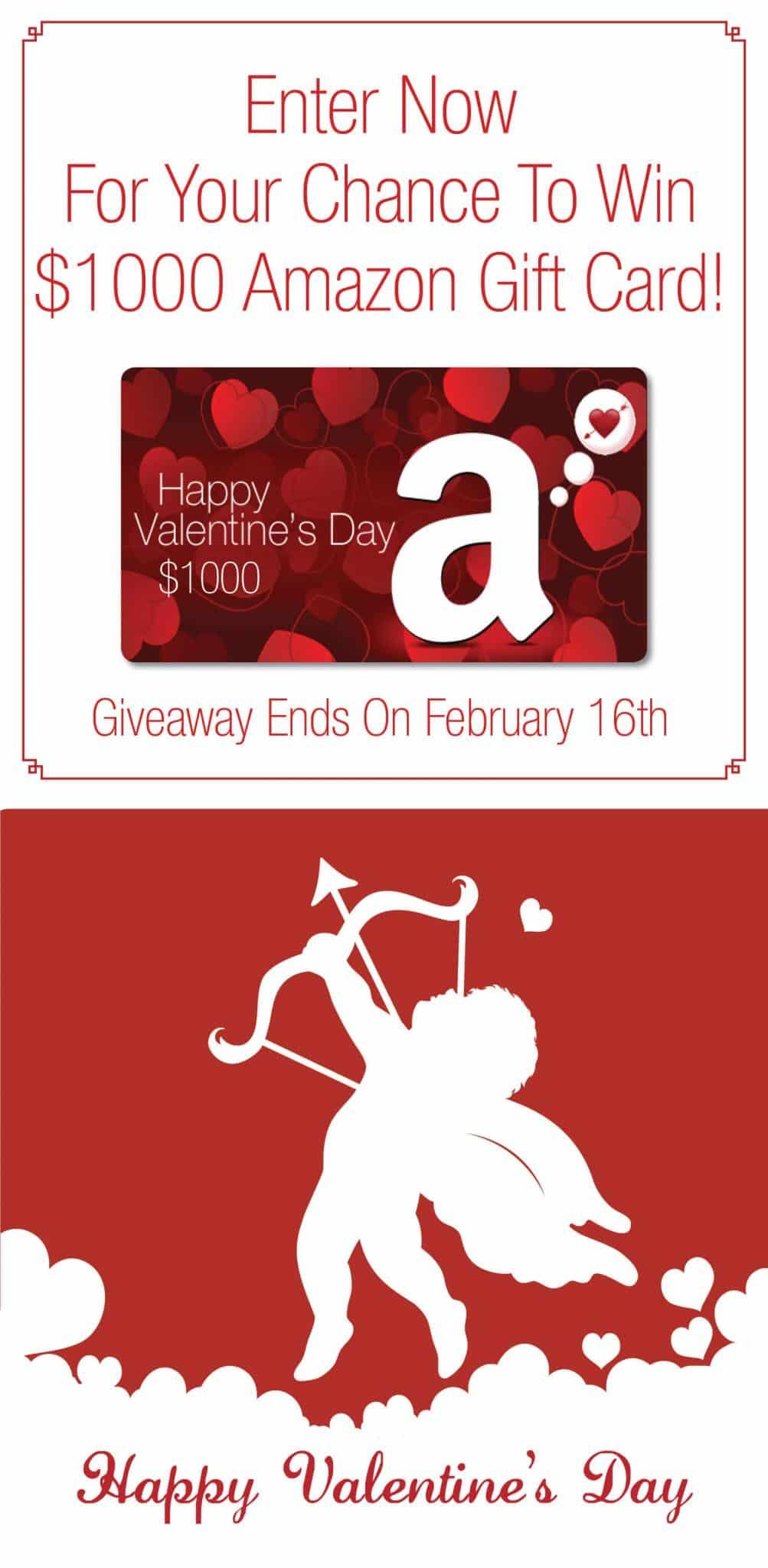 Valentine's Day $1,000 Amazon Giveaway