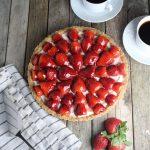 Strawberry Marscapone Tart more berries coffee