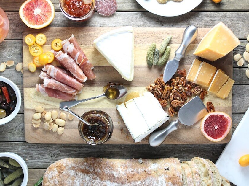 Sweet Valentine's Cheese Board