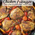 Italian chicken fricassee in skillet