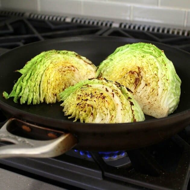 Sweet And Spicy Roasted Cabbage