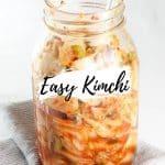 kimchi in mason jar