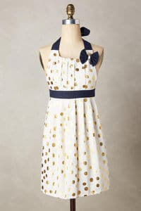 Polka PLeats Apron Anthropologie