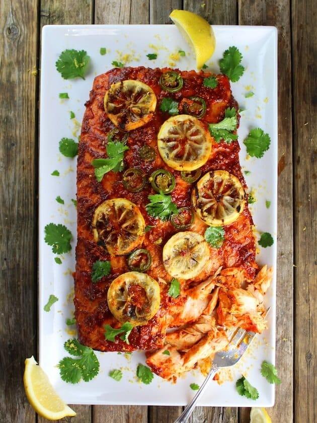 Cedar Plank Harissa Smoked Salmon