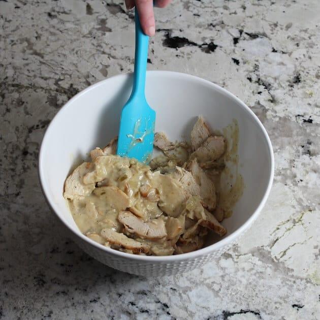 stir chicken mixture