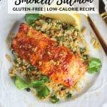 Cedar Plank Harissa Smoked Salmon on dinner plate
