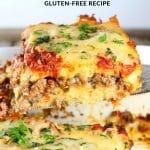 Spatula with lamb lasagna