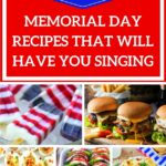 collage with Memorial Day recipes
