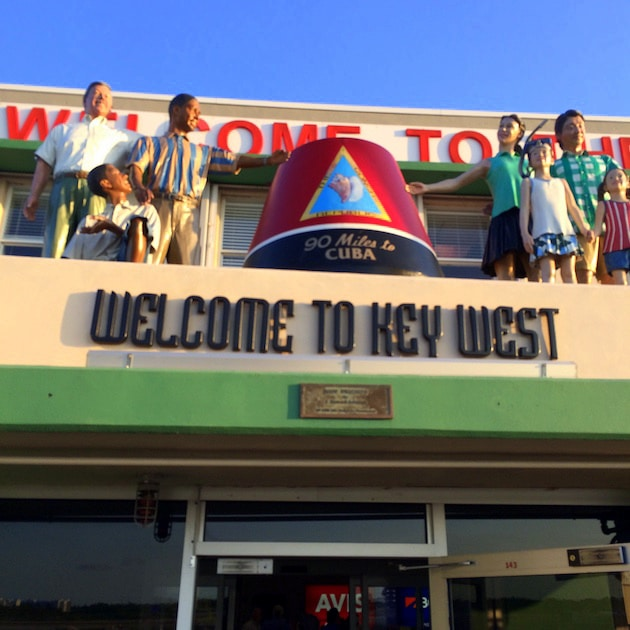 """Key West Airport Entrance Sign \""""Welcome To Key West\"""""""