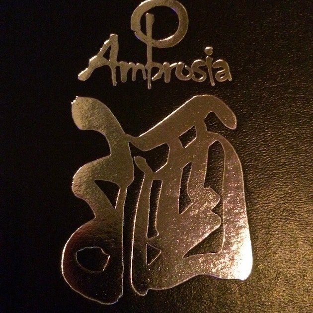 Cover of a sushi menu from Ambrosia Key West
