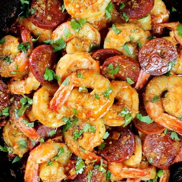 Sun-Dried Tomato Chorizo Garlic Shrimp