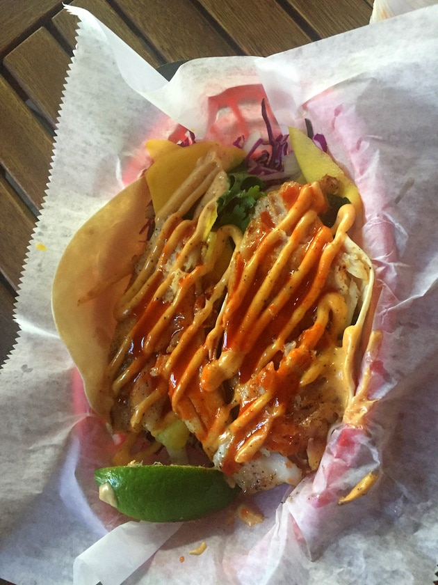 Two Fish Tacos from Garbo\'s Grill in Key West