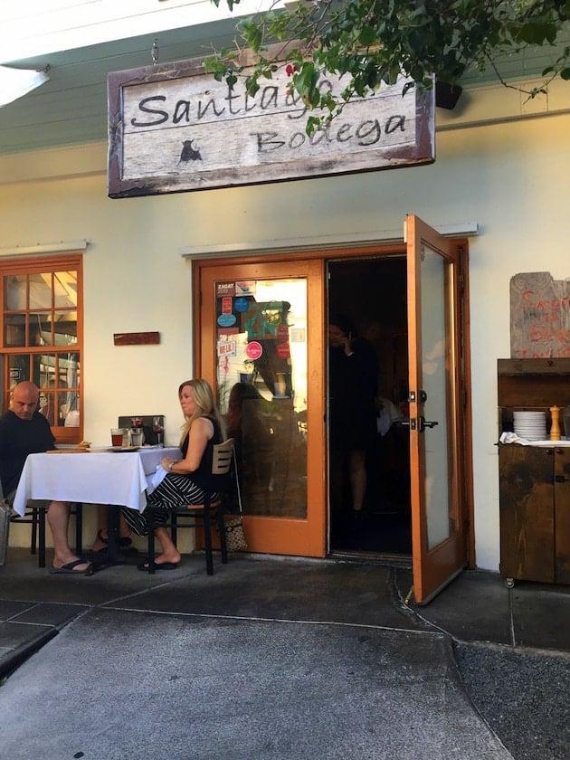 Entrance to Santiago Bodega restaurant in Key West
