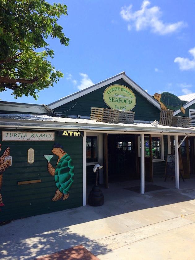 Entrance to Turtle Kraals Restaurant in Key West