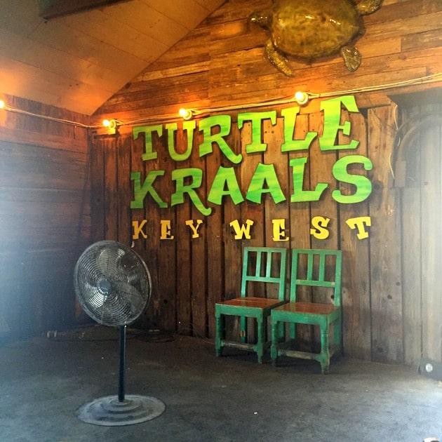 Foyer of Turtle Kraals Restaurant in Key West