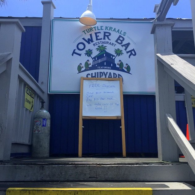 Entrance to the Tower Bar at Turtle Kraals Restaurant, Key West Florida