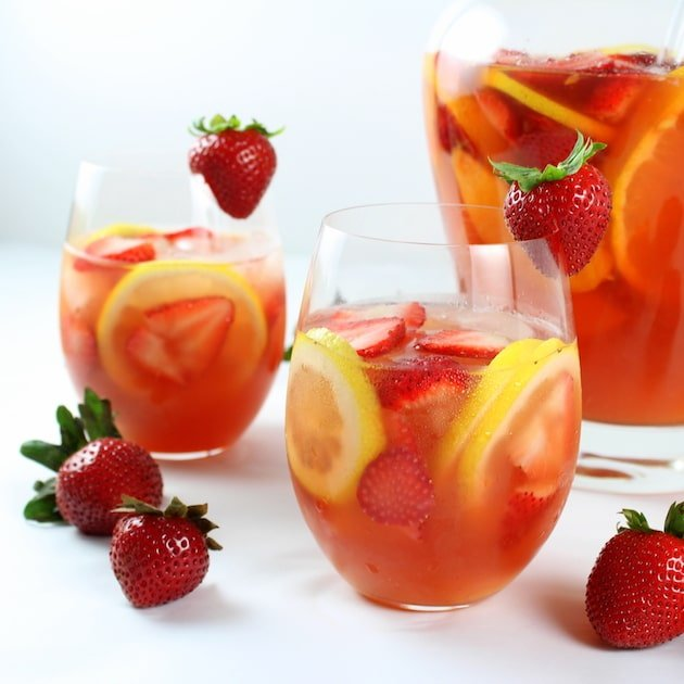Strawberry Peach Rosé Sangria