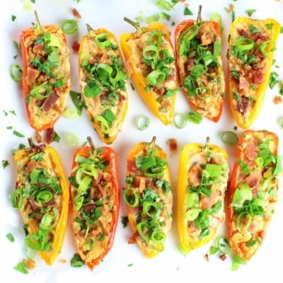 Cheesy Ranch Stuffed Mini Peppers