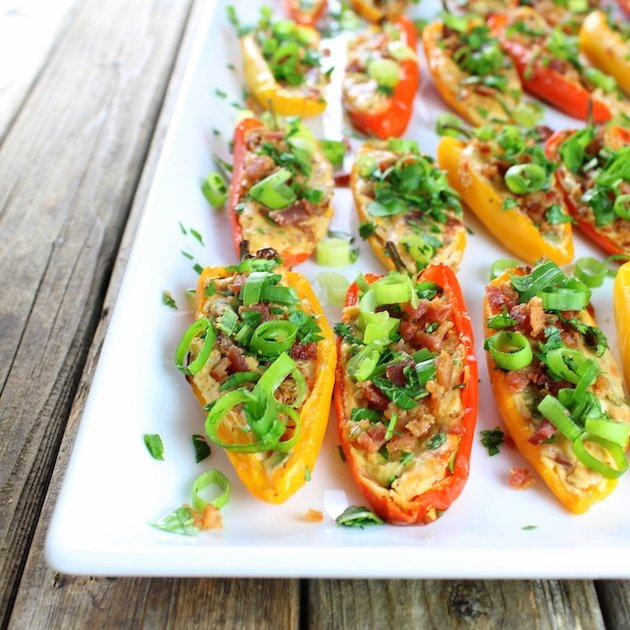 Cheesy Ranch Stuffed Mini Pepper Recipe