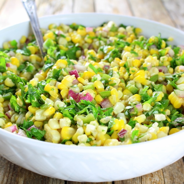 Eye level Jalapeño Cilantro Corn Salad