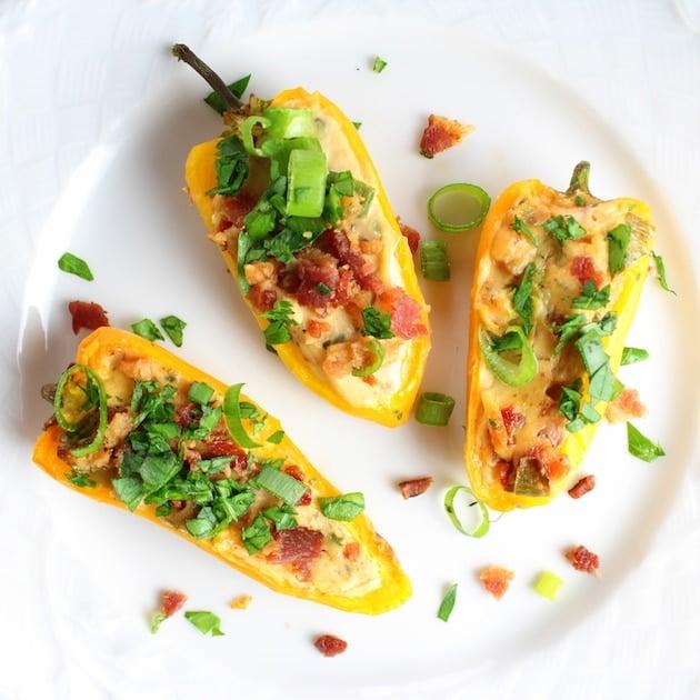 Three Cheesy Ranch Stuffed Mini Peppers